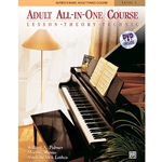 Alfreds Basic Adult All In One Piano Course Level 1 Book with DVD