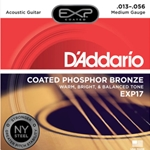 DAddario EXP17 Coated Phosphor Acoustic Guitar, Medium, 13-56