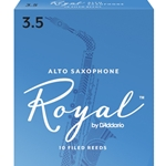 Rico Royal Alto Saxophone Reeds 3.5 Box of 10