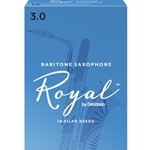 Rico Royal Baritone Saxophone Reeds 3 Box of 10