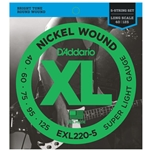 D'Addario Nickel Wound 5-String Bass Strings Super Light