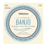 D'Addario Nickel 5-String Banjo Strings Light
