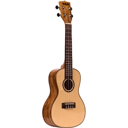 Kala Concert Ukulele Solid Spruce Top Flame Maple Back and Sides