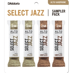 D'Addario Select Jazz Sampler 4-Pack Alto Sax 2 Strength