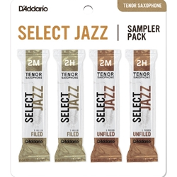 D'Addario Select Jazz Sampler 4-Pack Tenor Sax 2 Strength