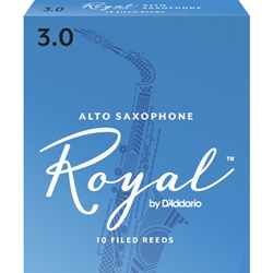 Rico Royal Alto Saxophone Reeds 3 Box of 10