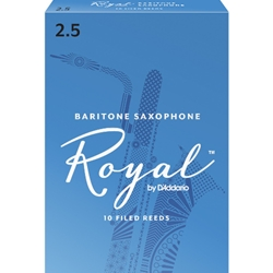 Rico Royal Baritone Saxophone Reeds 2.5 Box of 10